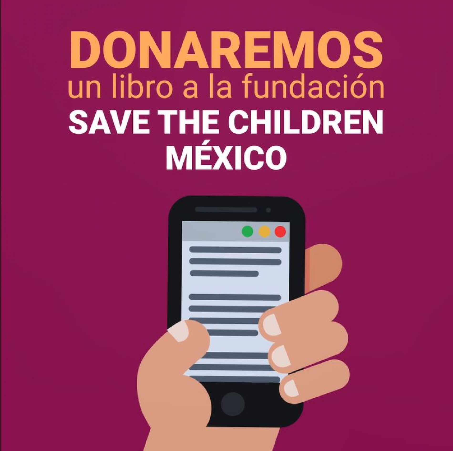 Donaremos un libro a la fundación Save the Children